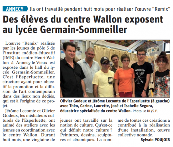 Article DL vernissage Remix Sommeiller